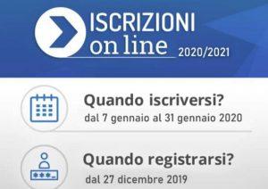 Logo delle iscrizioni on line per l'anno scolastico 2020-2021